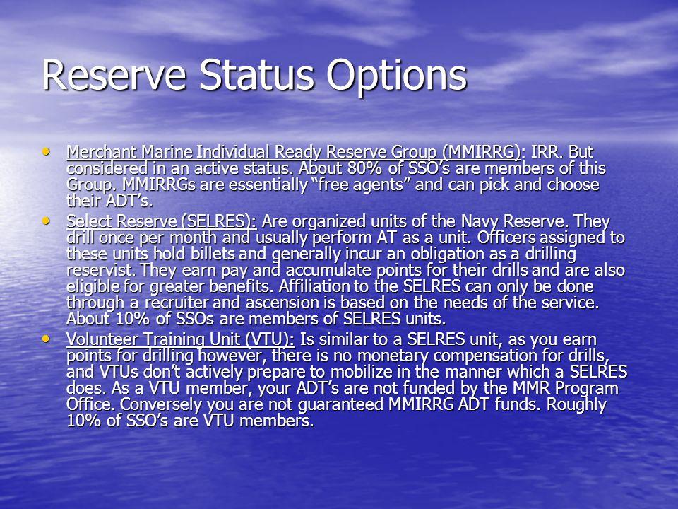Reserve Status Options