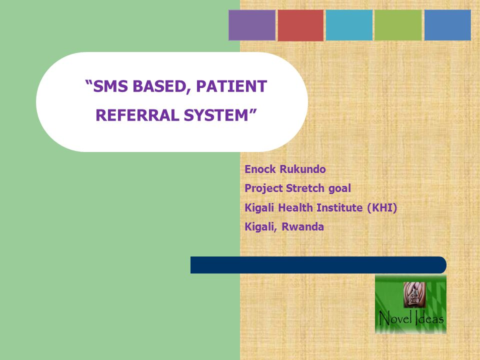 SMS BASED, PATIENT REFERRAL SYSTEM