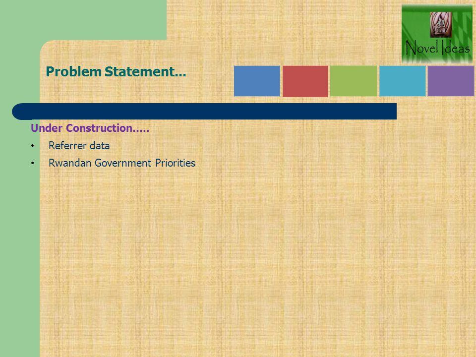 Problem Statement... Under Construction….. Referrer data
