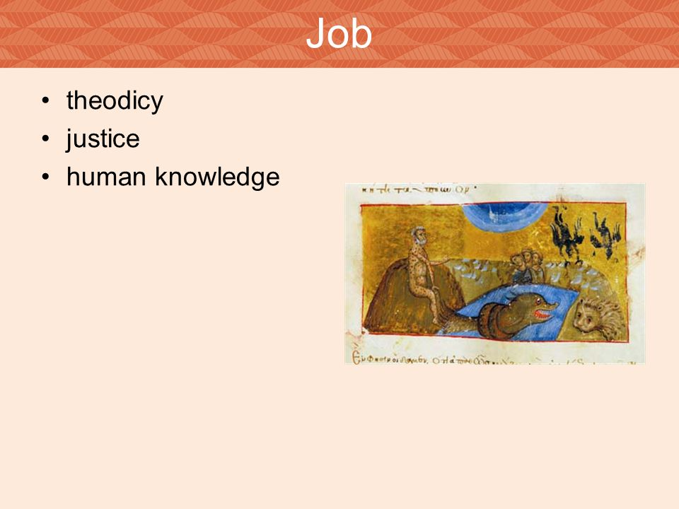 Job theodicy justice human knowledge