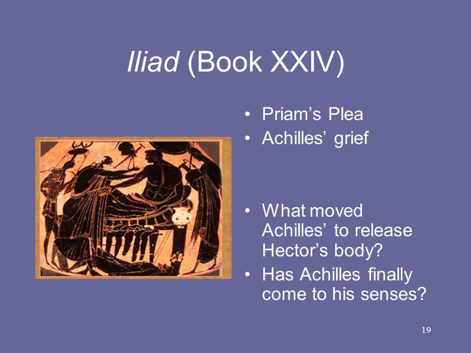 Iliad (Book XXIV) Priam's Plea Achilles' grief