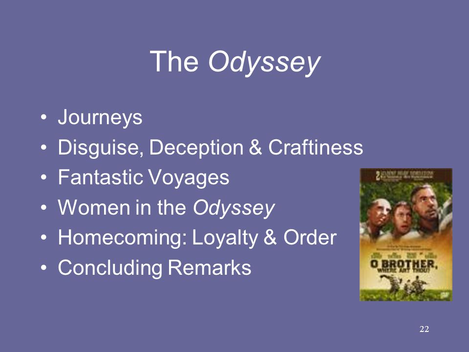 The Odyssey Journeys Disguise, Deception & Craftiness