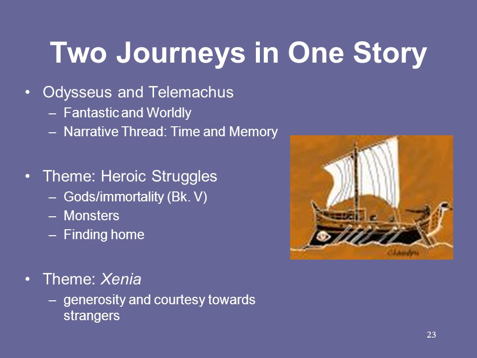 Two Journeys in One Story