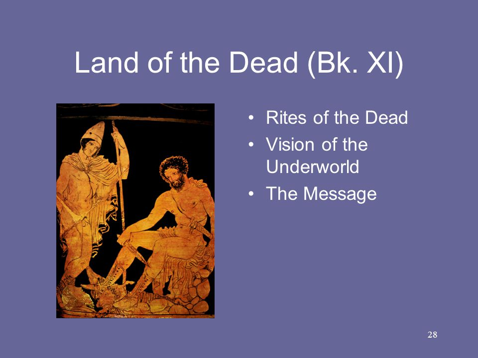 Land of the Dead (Bk. XI) Rites of the Dead Vision of the Underworld