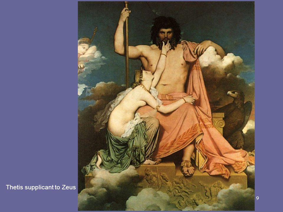 Thetis supplicant to Zeus