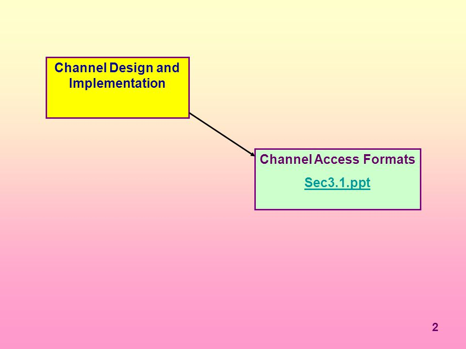 Channel Design and Implementation Channel Access Formats
