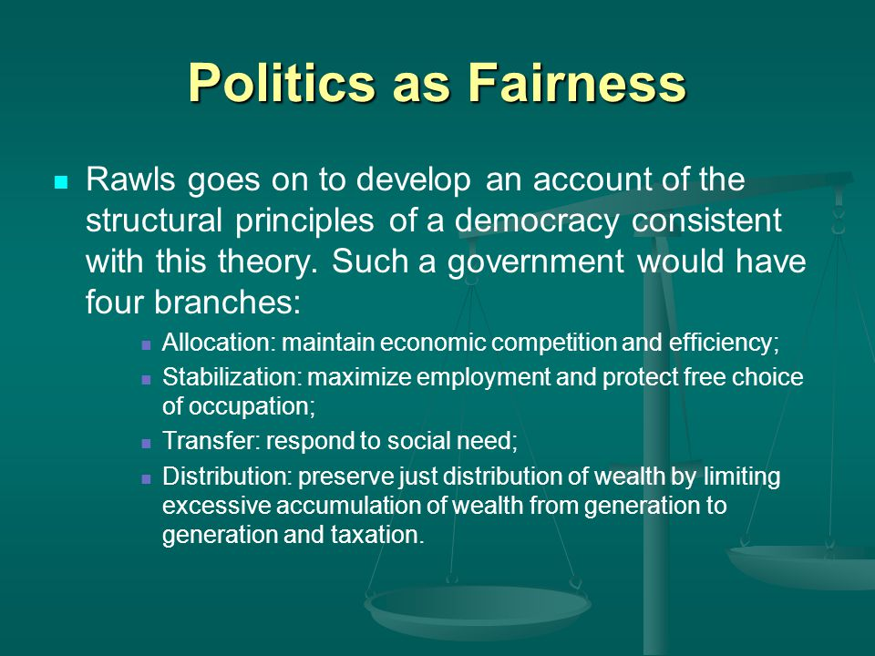 Politics as Fairness