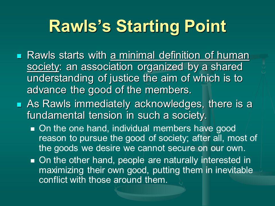 Rawls's Starting Point