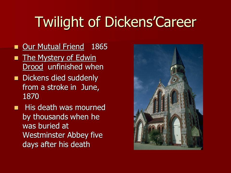 Twilight of Dickens'Career