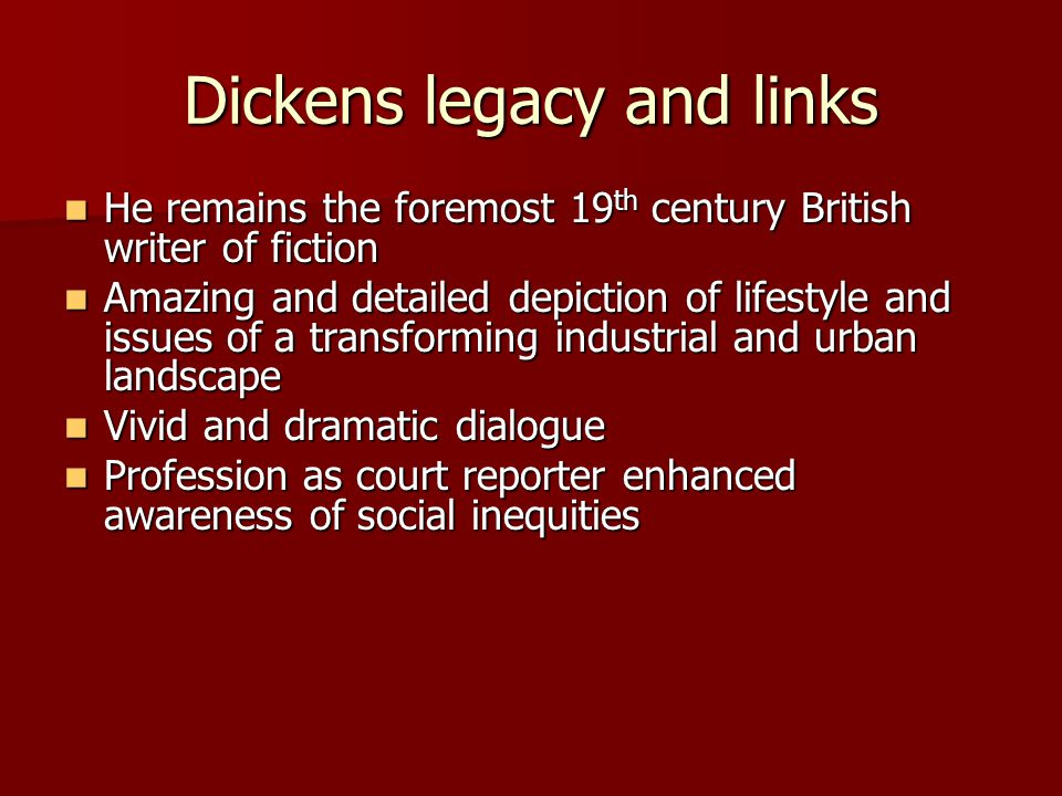 Dickens legacy and links