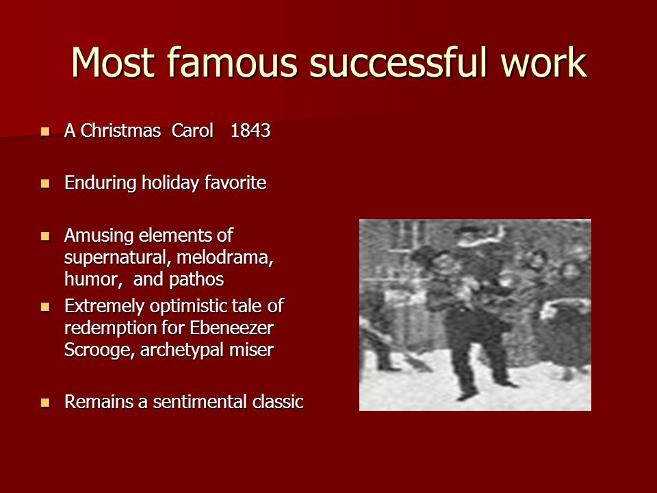 Most famous successful work