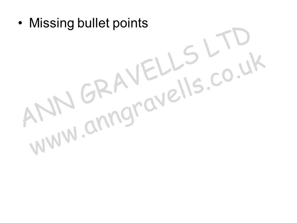 ANN GRAVELLS LTD www.anngravells.co.uk