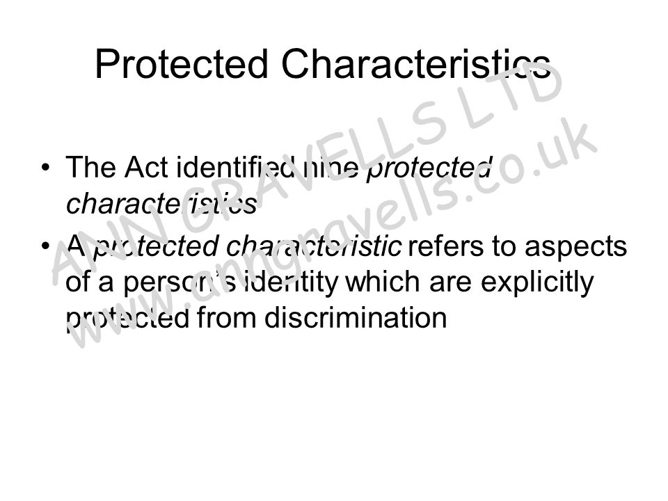 Protected Characteristics