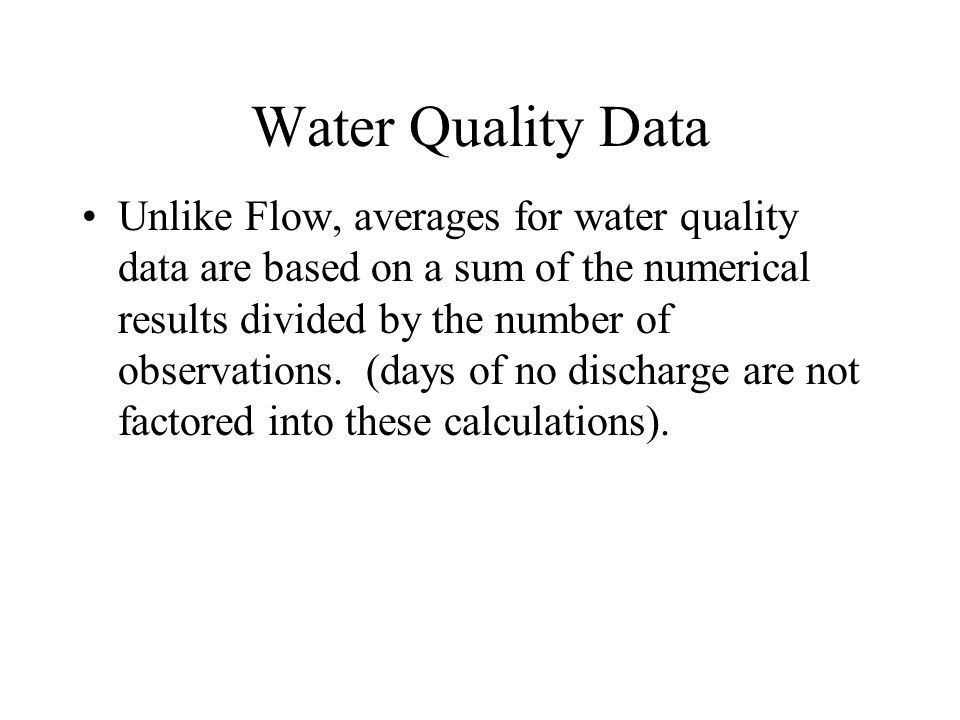 Water Quality Data