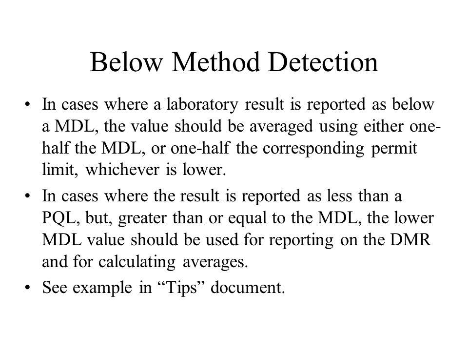 Below Method Detection