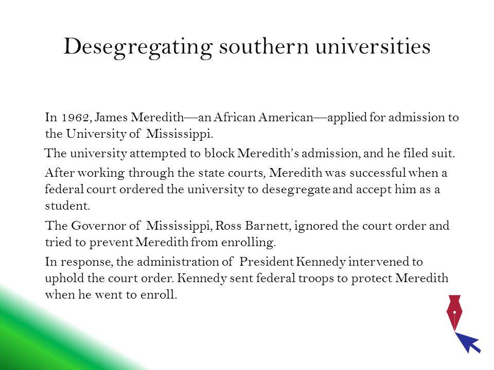 Desegregating southern universities