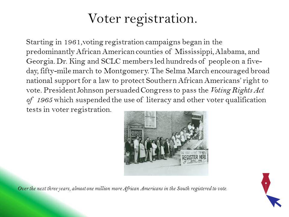 Voter registration.