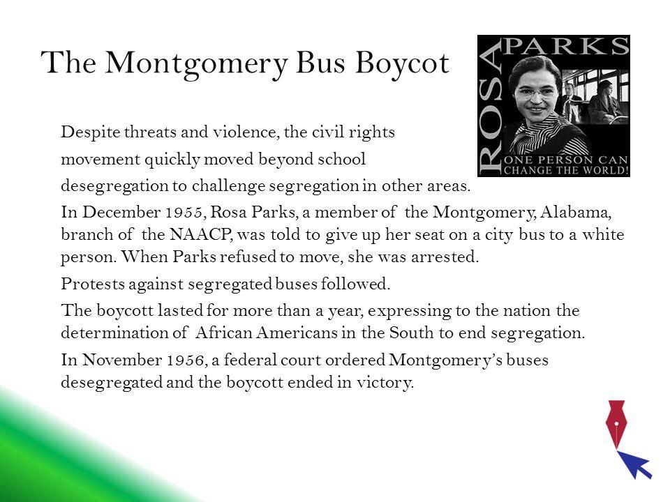 The Montgomery Bus Boycot