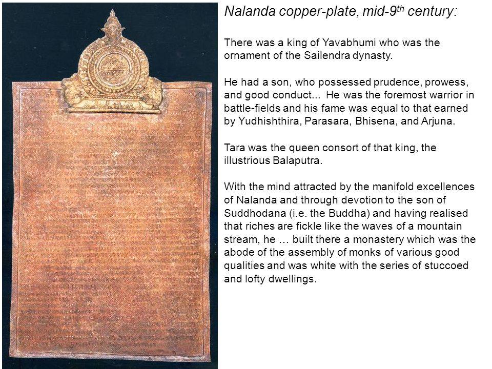 Nalanda copper-plate, mid-9th century: