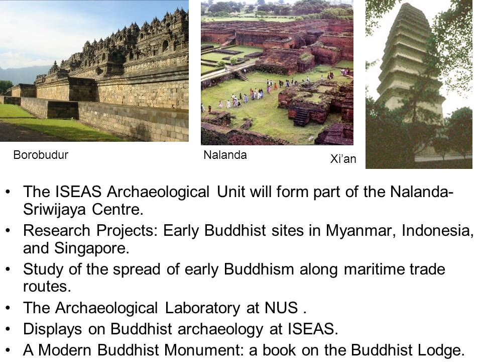 Study of the spread of early Buddhism along maritime trade routes.