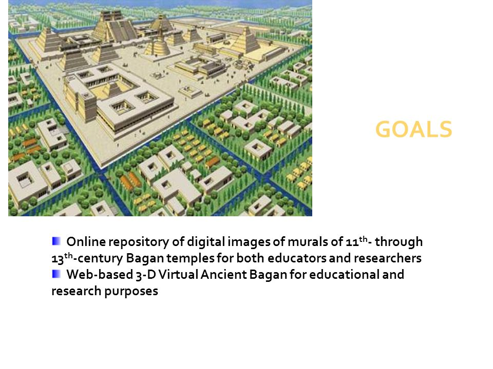 GOALS Online repository of digital images of murals of 11th- through 13th-century Bagan temples for both educators and researchers.