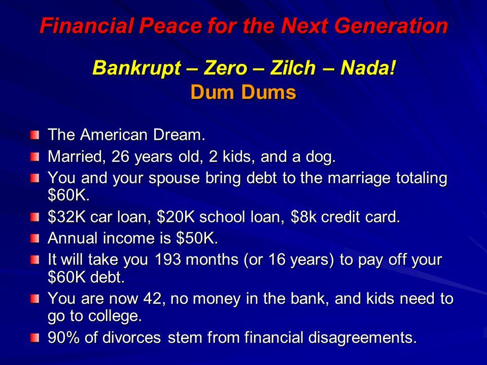 Bankrupt – Zero – Zilch – Nada! Dum Dums