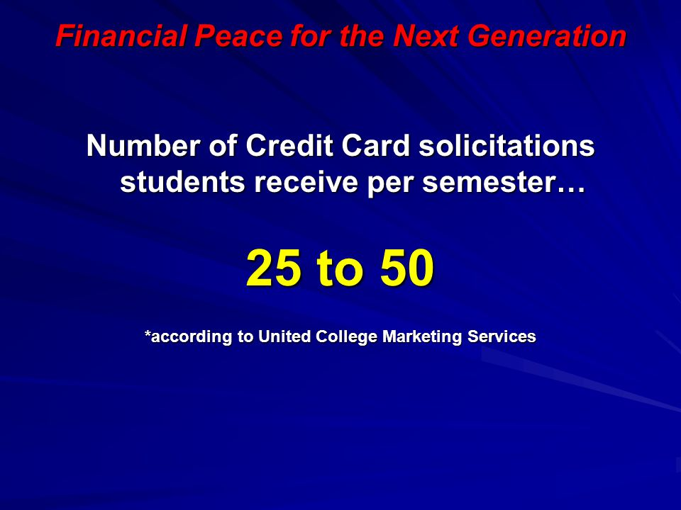 25 to 50 Financial Peace for the Next Generation
