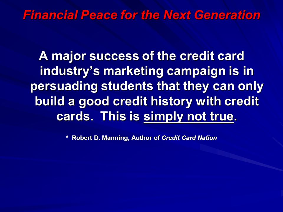 Financial Peace for the Next Generation