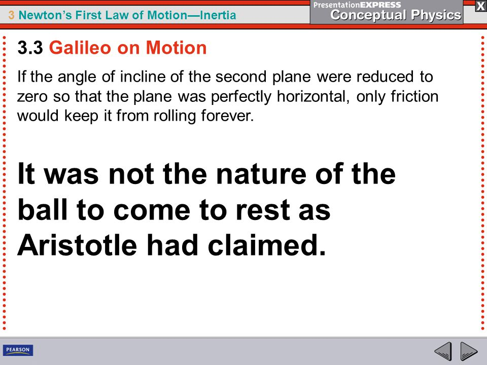 3.3 Galileo on Motion