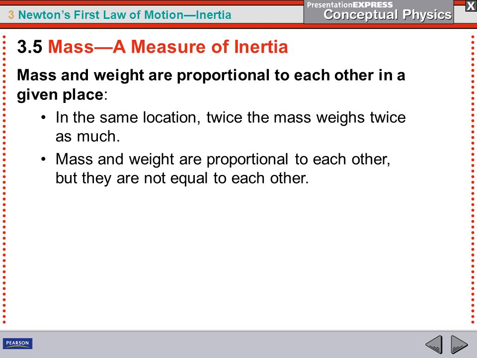 3.5 Mass—A Measure of Inertia