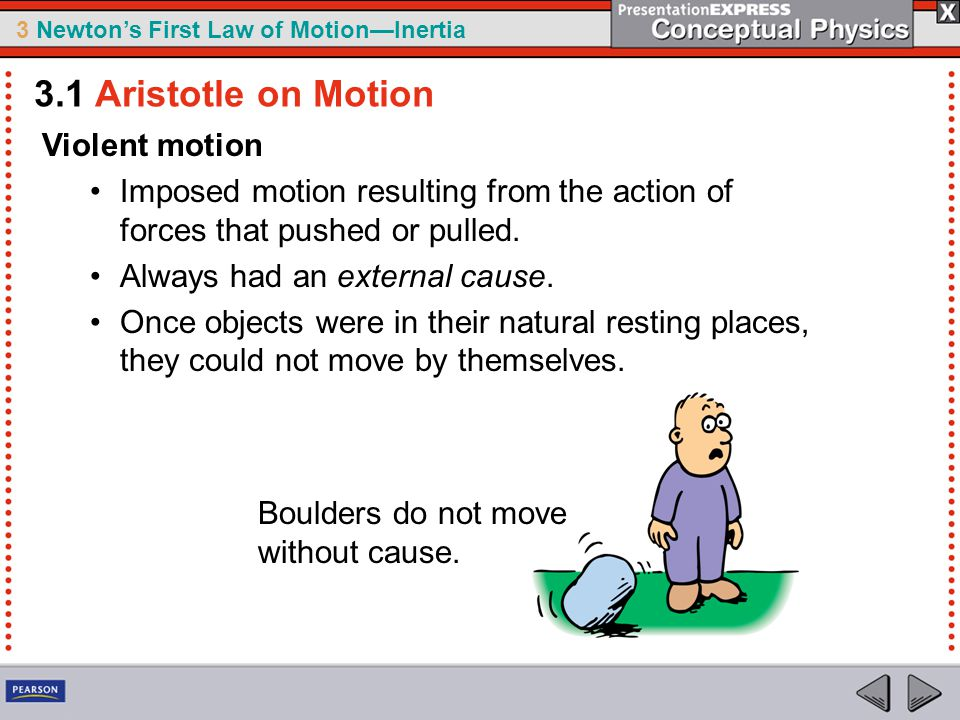 3.1 Aristotle on Motion Violent motion