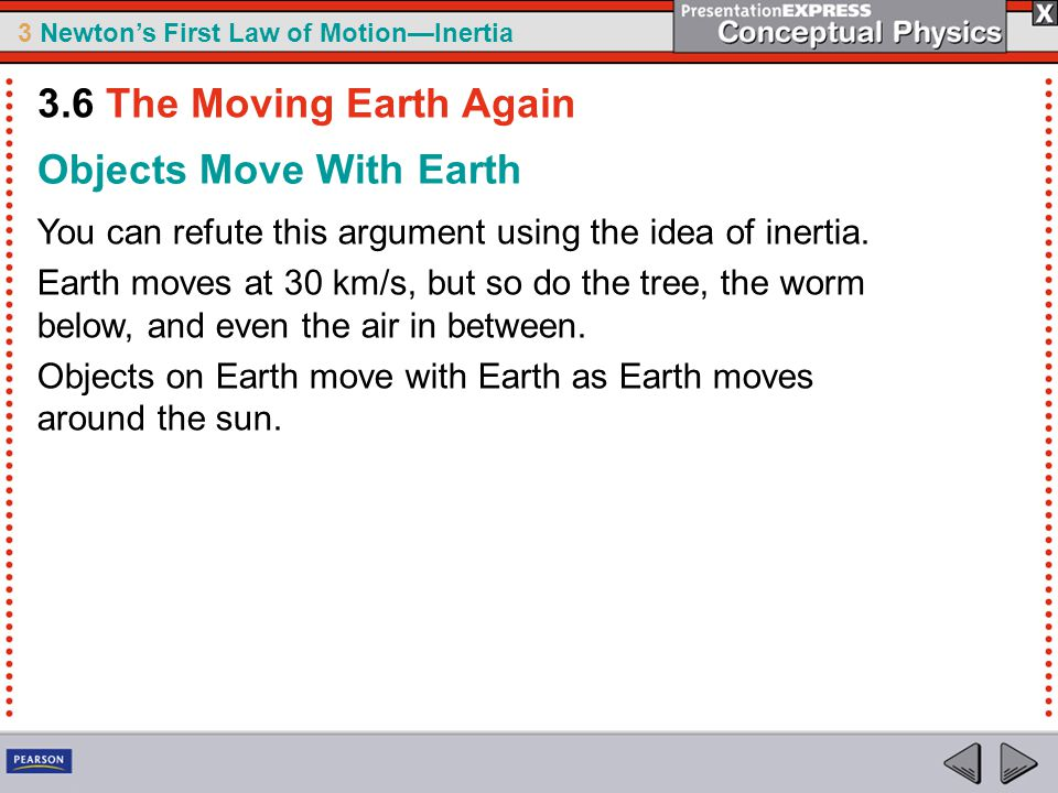 Objects Move With Earth