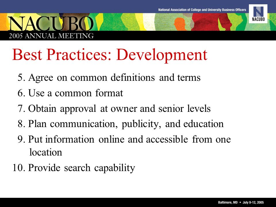 Best Practices: Development