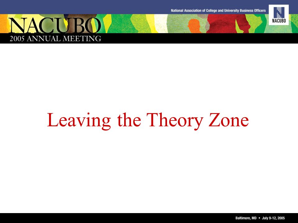 Leaving the Theory Zone