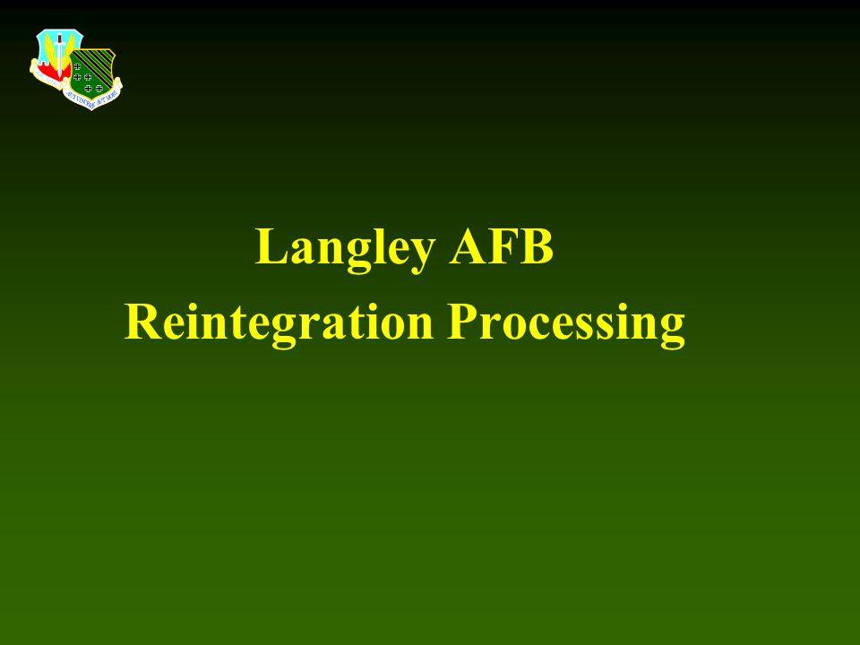 Reintegration Processing