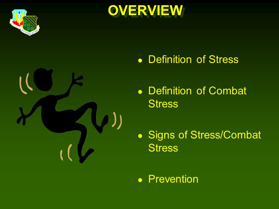 OVERVIEW Definition of Stress Definition of Combat Stress