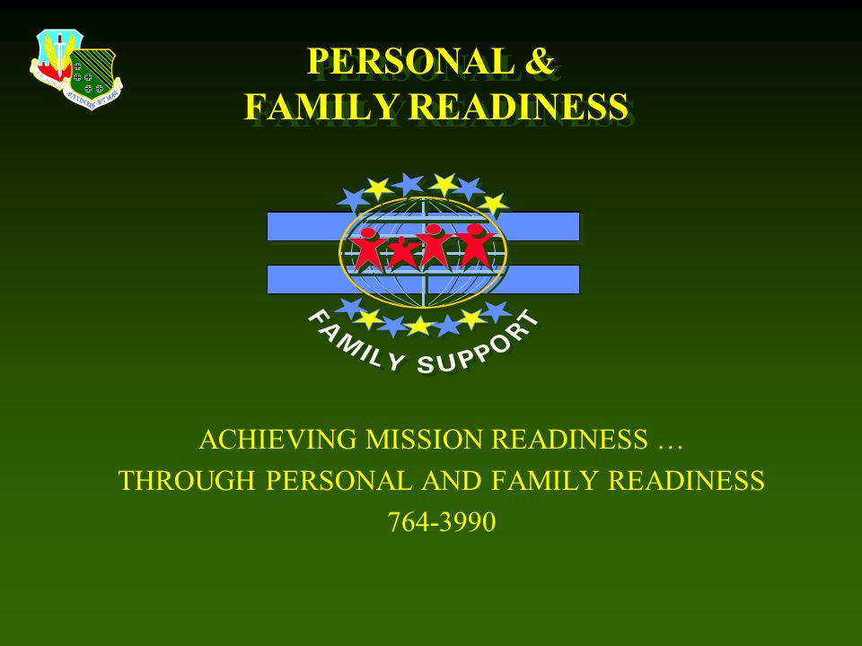PERSONAL & FAMILY READINESS