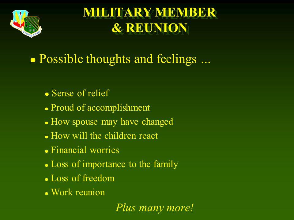 MILITARY MEMBER & REUNION