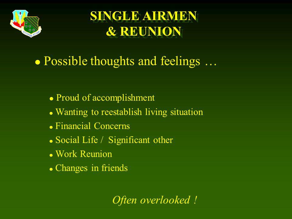 SINGLE AIRMEN & REUNION
