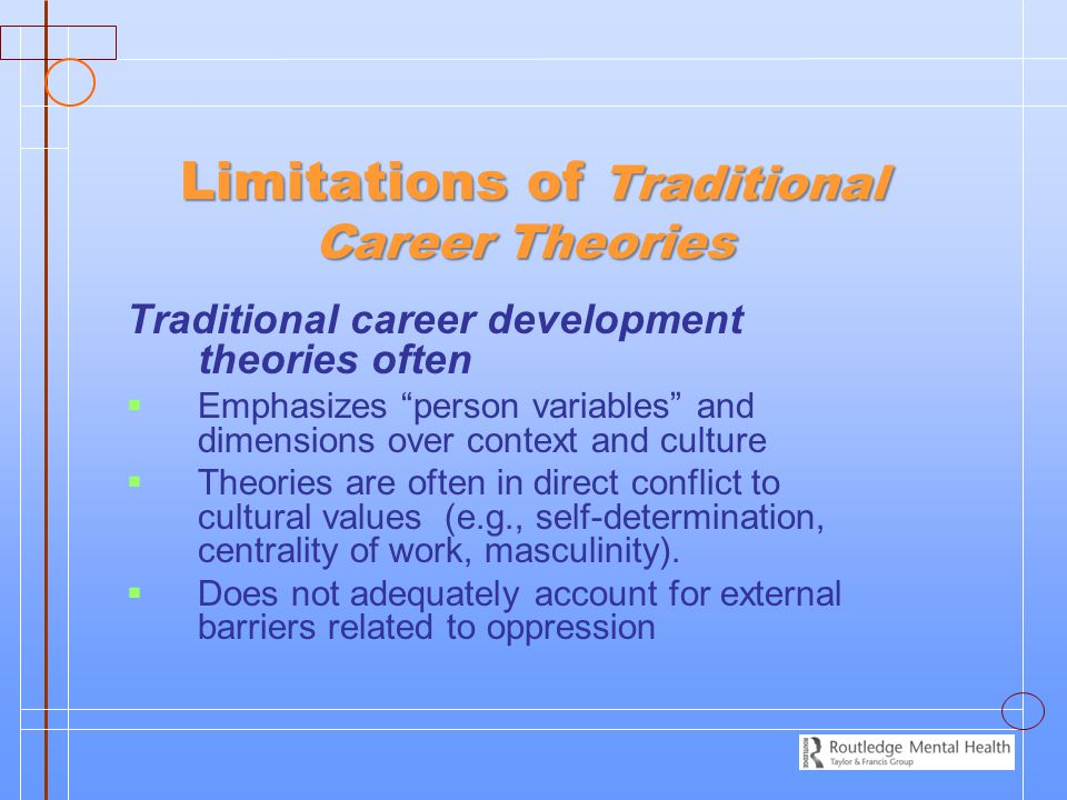 Limitations of Traditional Career Theories