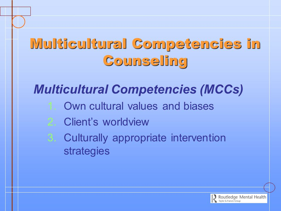 Multicultural Competencies in Counseling