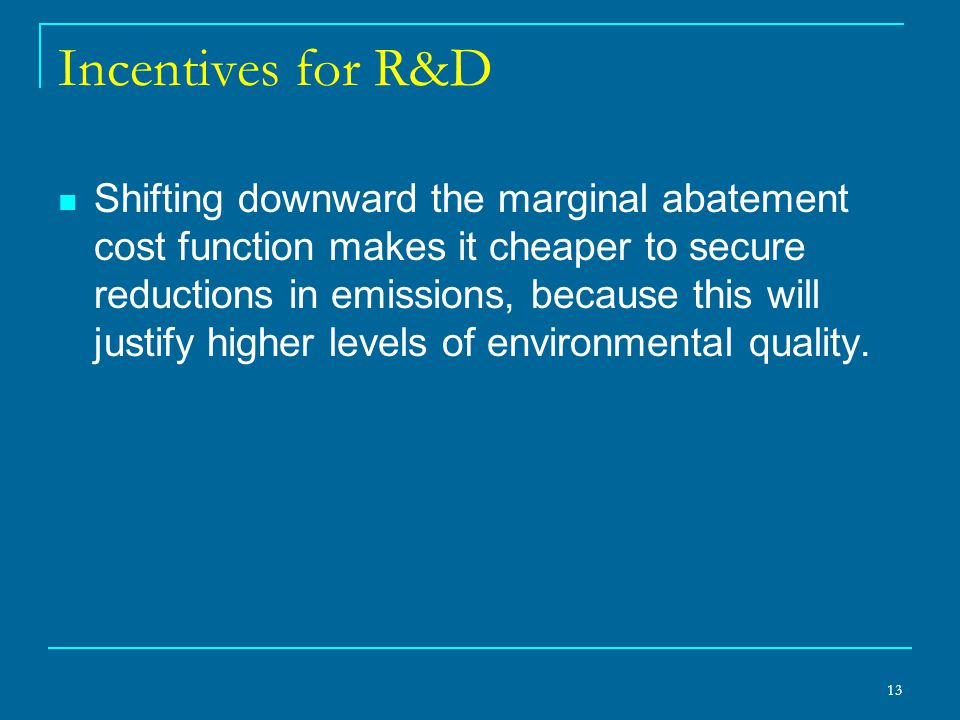 Incentives for R&D