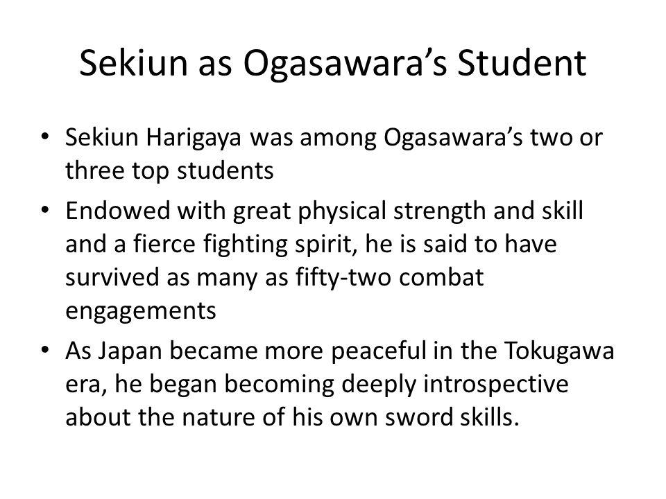 Sekiun as Ogasawara's Student