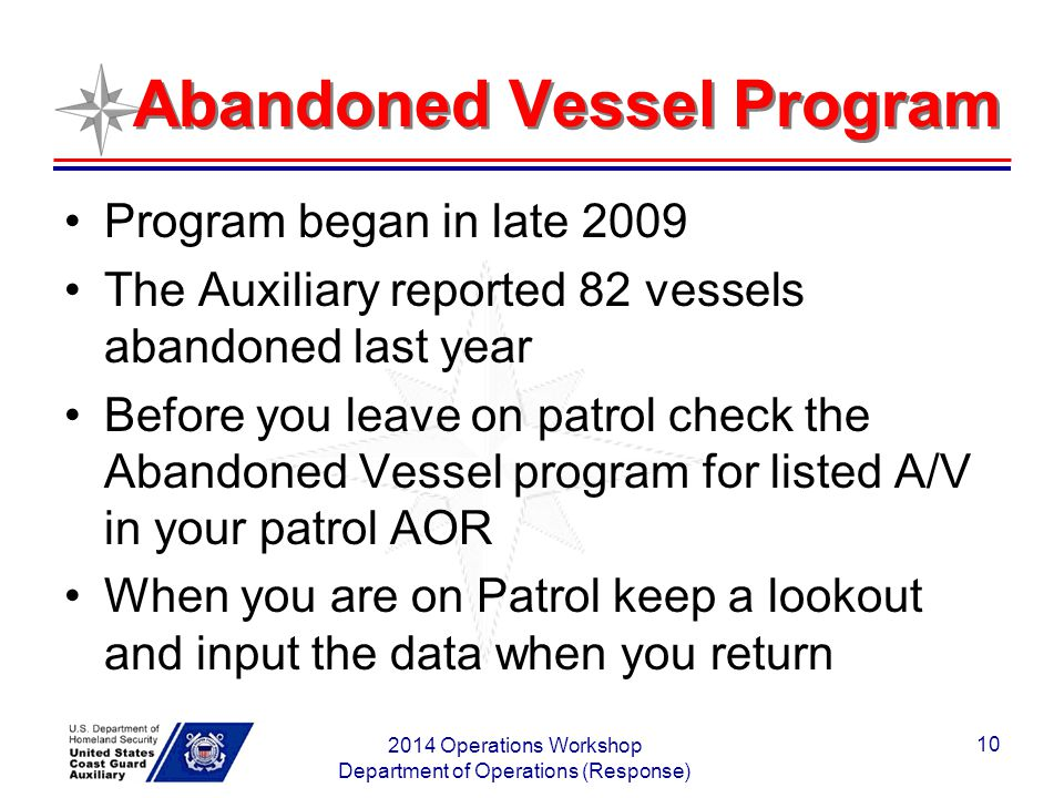 Abandoned Vessel Program
