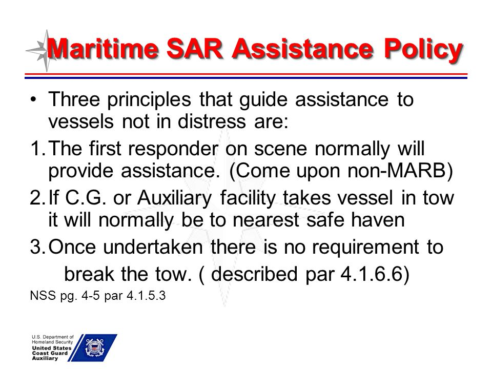 Maritime SAR Assistance Policy