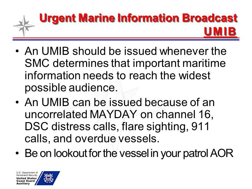 Urgent Marine Information Broadcast UMIB