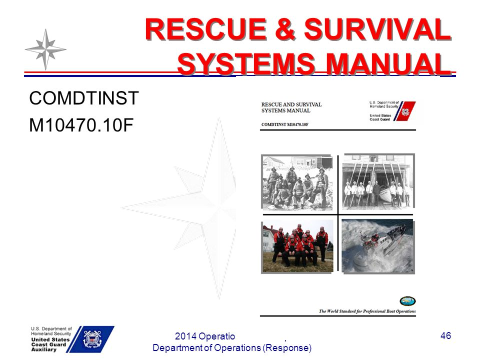 RESCUE & SURVIVAL SYSTEMS MANUAL