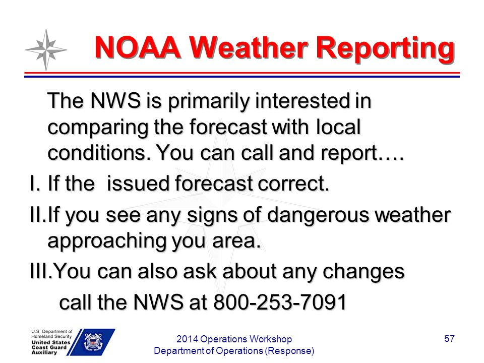 NOAA Weather Reporting