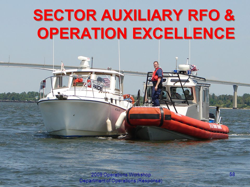 SECTOR AUXILIARY RFO & OPERATION EXCELLENCE