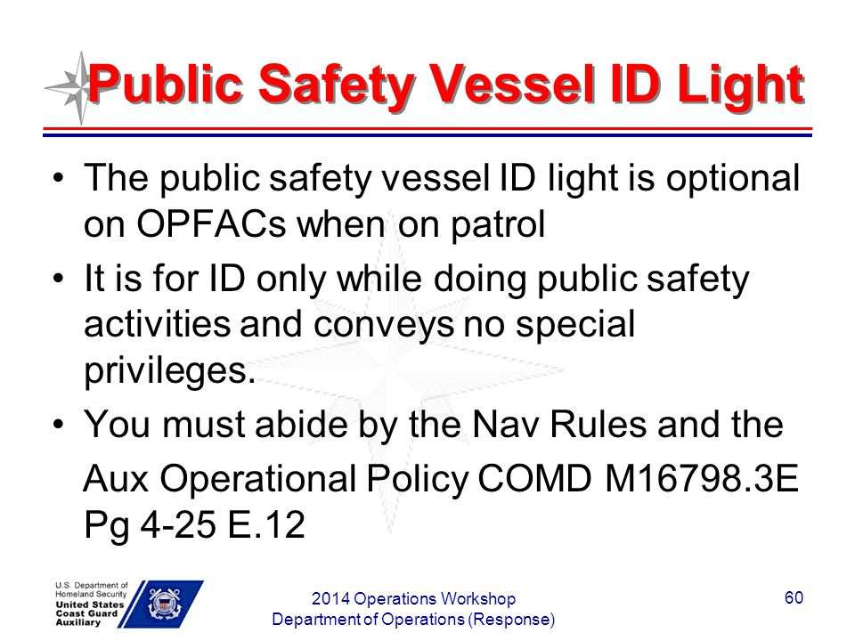 Public Safety Vessel ID Light